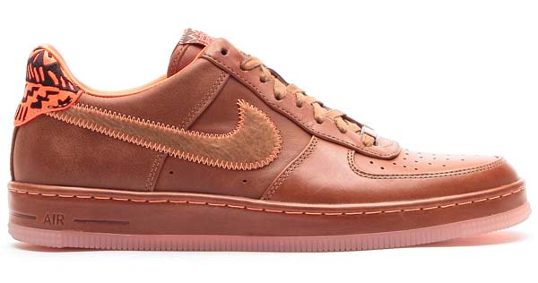 NIKE AIR FORCE 1 DOWNTOWN LW BHM QS [HAZELNUT/HAZELNUT-TOTAL ORANGE] 586582-200