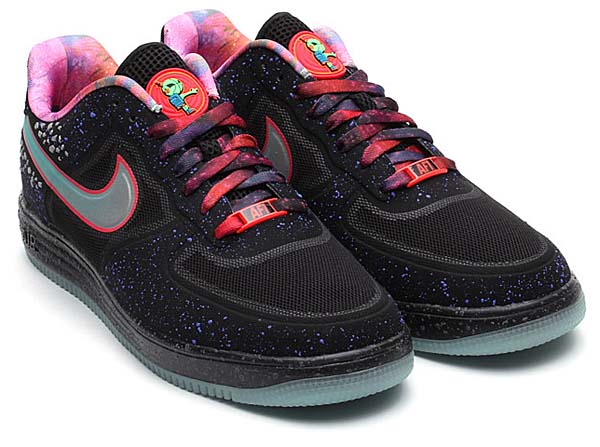 NIKE LUNAR FORCE1 FUSE PRM QS 2013 NBA ALLSTAR GAME [BLACK/TOTAL CRIMSON] 596727-001