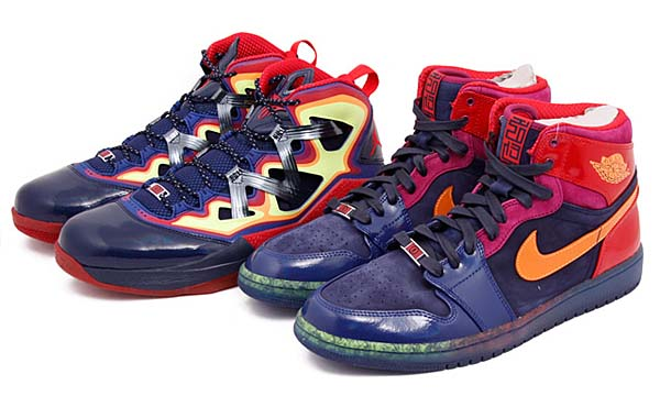 NIKE AIR JORDAN YOTS PACK AIR JORDAN 1 MID & MELO M9 [MULTI-COLOR] 597829-901