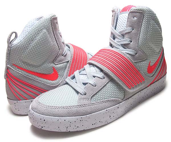NIKE NSW SKYSTEPPER [PURE PLATINUM/ATOMIC RED-WHITE] 599277-002