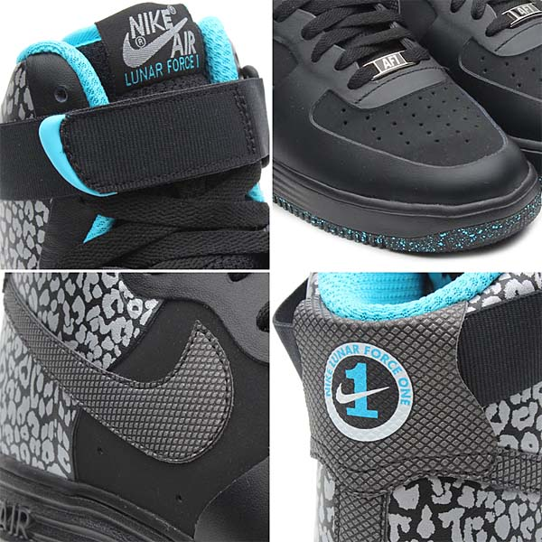 NIKE LUNAR FORCE 1 NS HI PREMIUM [BLACK/BLACK] 616767-001