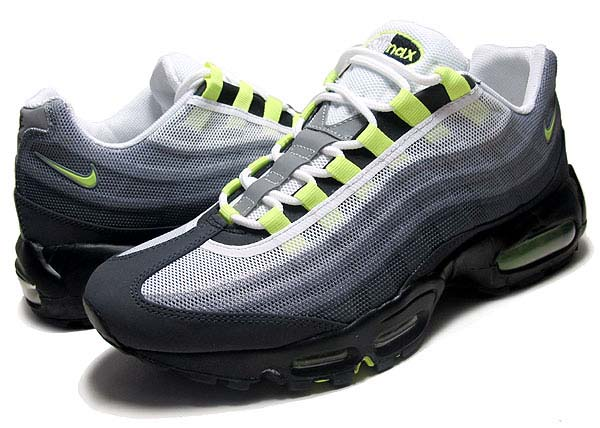 NIKE AIR MAX 95 PREM TAPE QS [COOL GREY/VOLT-BLK-MTLLC SLVR] 624519-070