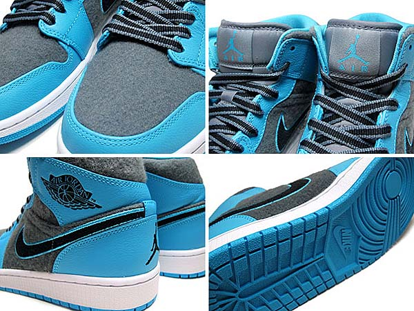 NIKE AIR JORDAN 1 MID [GAMMA BLUE/BLACK-COOL GREY-WHITE] 633206-405