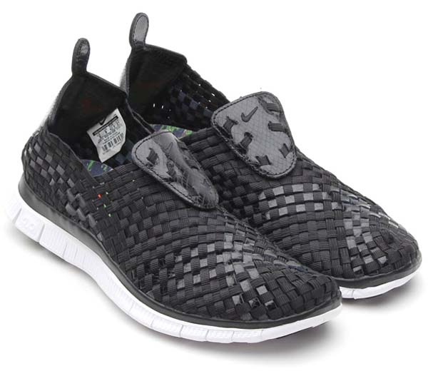 NIKE FREE WOVEN 4.0 QS [BLACK/BLACK-ORANGE BLAZE] 633790-008