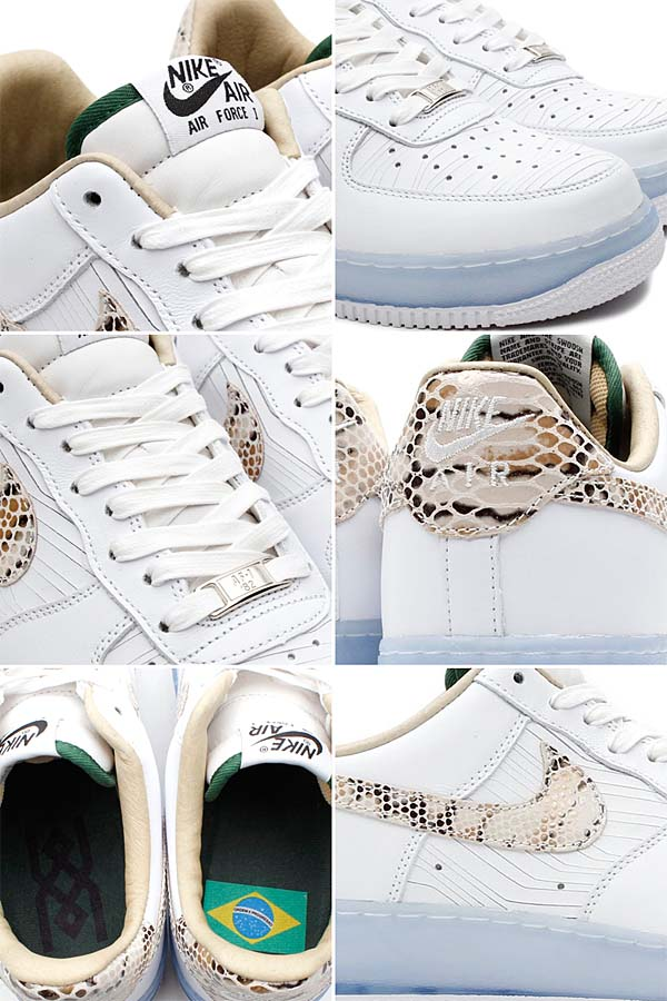 NIKE AIR FORCE 1 LOW PREMIUM COMFORT [WHITE/WHITE] 635272-100
