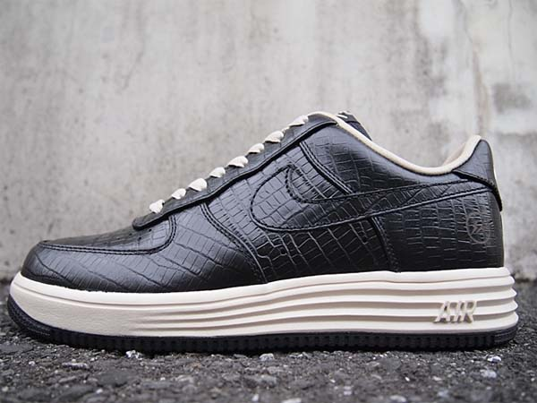 NIKE x FRAGMENT DESIGN LUNAR FORCE 1 LOW PRM SP [BLACK/BLACK-NET] 638130-009