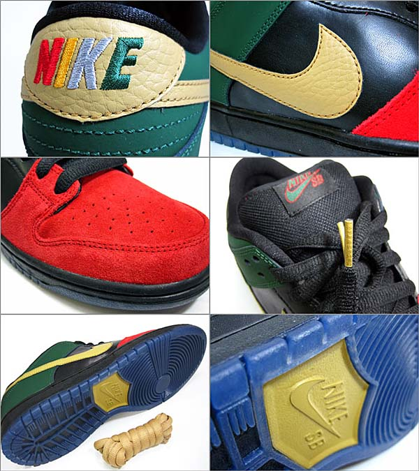 NIKE DUNK LOW PRO SB BMH [UNIVERSITY RED/METALLIC GOLD/GEORGE GREEN/BLACK] DUNKPROSB_BHM2013