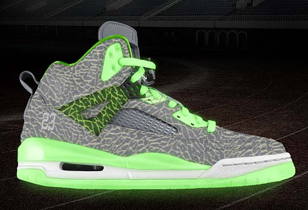 NIKEiD JORDAN SPIZIKE iD [GLOW IN THE DARK/ELEPHANT] SPIZIKE_iD_201309