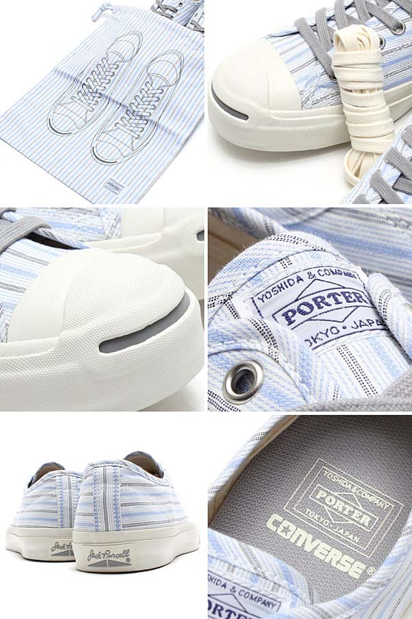 CONVERSE x PORTER JACK PURCELL & POUCH [77 STRIPE] 77stripe