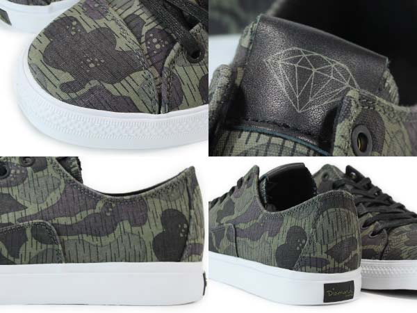 DIAMOND SUPPLY CO. FOOTWEAR BRILLIANT LOW [BLACK RAIN CAMO] d13-f102