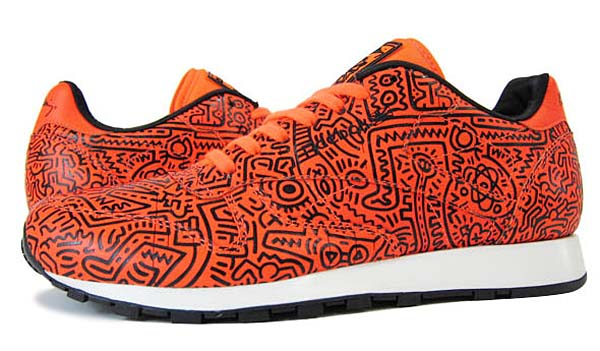 Reebok CLASSIC LEATHER LUX Keith Haring [NEON SIGN/BLAK/WHITE] V59361
