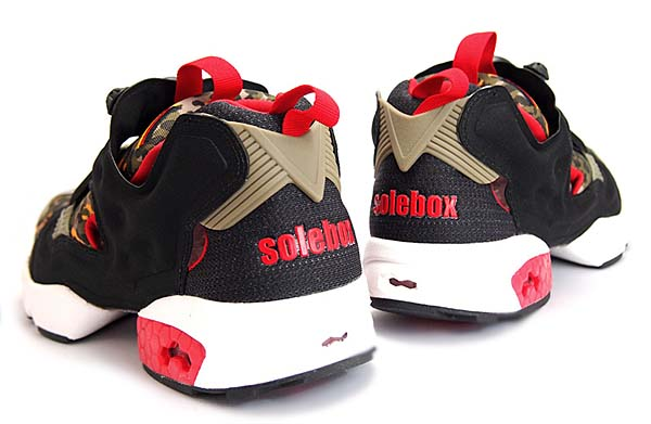 Reebok x SOLEBOX INSTA PUMP FURY OG [BLACK / CARGO GEERN / STADIUM RED / WHITE] V61328