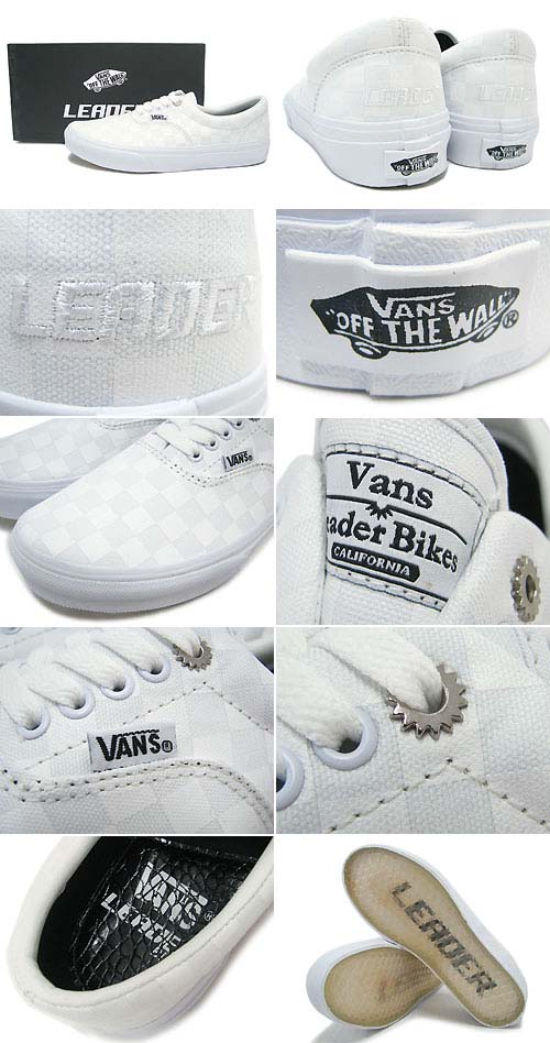 VANS x LEADER BIKE Era [WHITE] V95LEADER