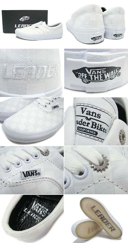 VANS x LEADER BIKE Era [WHITE] V95LEADER