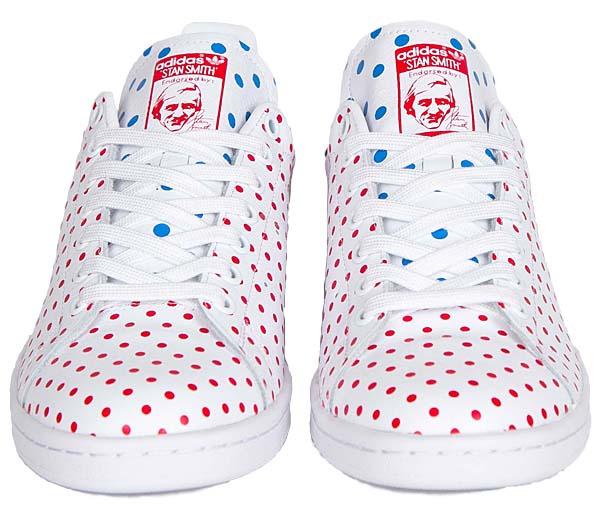 adidas Originals = PHARRELL WILLIAMS PW STAN SMITH SPD [FTW WHITE / RED / BLUEBIRD] B25401