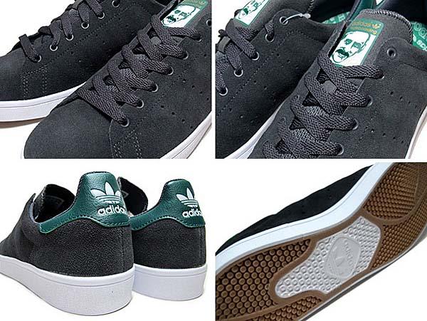 adidas SKATEBORDING STAN SMITH VULC [SOLID GREY / FOREST NIGHT / RUNNING WHITE] C75191
