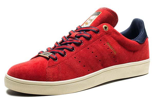 adidas skateboarding STAN SMITH VULC PRIMITIVE [POWER RED/COLLEGIATE NAVY/METALLIC GOLD] C75858