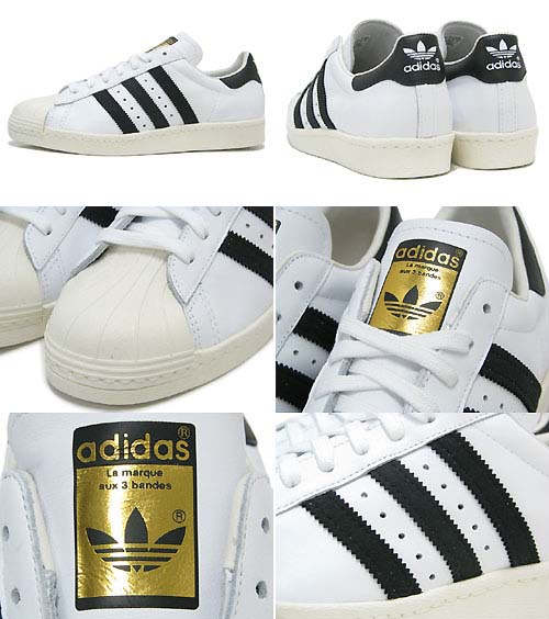 adidas SUPERSTAR 80s [WHITE/BLACK/CHALK2] G61070 写真1
