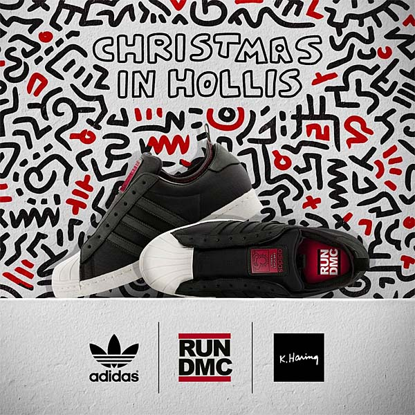 adidas SUPERSTAR 80s adidas x RUN DMC x KEITH HARING [BLACK1/COLRED/WHTVAP] G98610 写真4