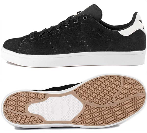 adidas Skateboarding STAN SMITH VULC [BLACK/RUNWHT/BLACK1] G99793 写真1