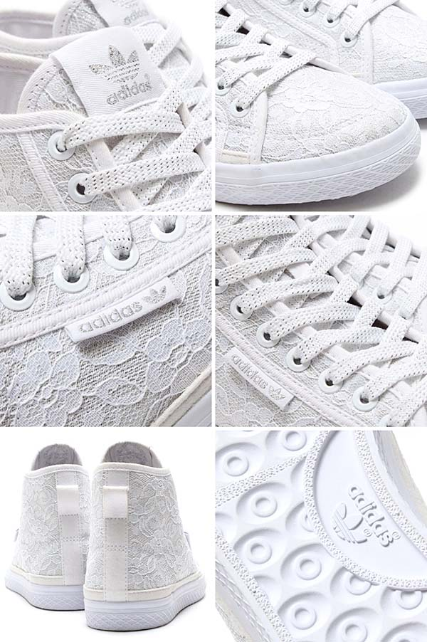 adidas Originals for atmos HONEY MID LACE W [RUNNING WHITE/RUNNING WHITE/RUNNING WHITE] M18710 写真2