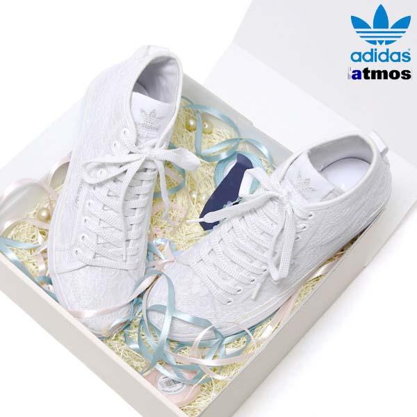 adidas Originals for atmos HONEY MID LACE W [RUNNING WHITE/RUNNING WHITE/RUNNING WHITE] M18710 写真3