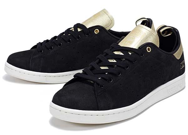 adidas STAN SMITH CLOT [BLACK/CHALK/METALLIC GOLD] M22696 写真1