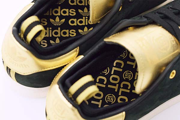 adidas STAN SMITH CLOT [BLACK/CHALK/METALLIC GOLD] M22696 写真4
