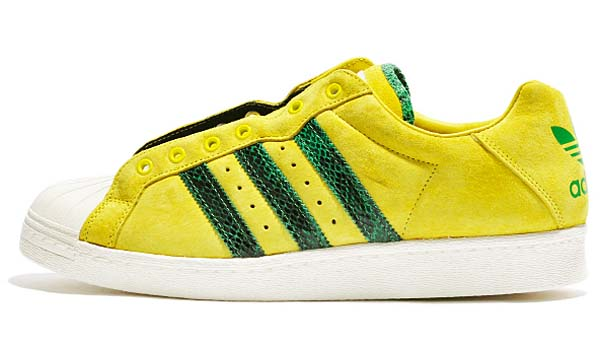 adidas x RUN DMC ULTRASTAR 80s [YELLOW / GREEN / CHALK WHITE] M25317
