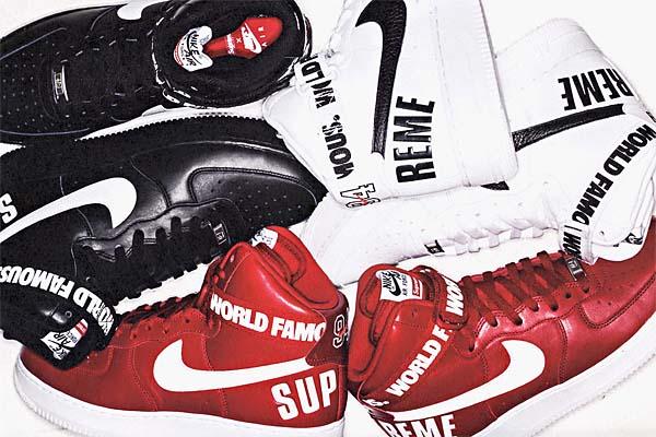 SUPREME x NIKE AIR FORCE 1 HIGH [RED/WHITE] 001627-263