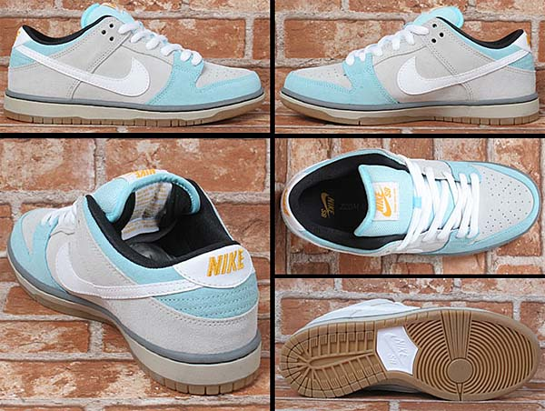 NIKE SB x PLUS SKATESHOP DUNK LOW [GLACIER ICE/WHITE-LIGHT ASH GREY] 304292-410
