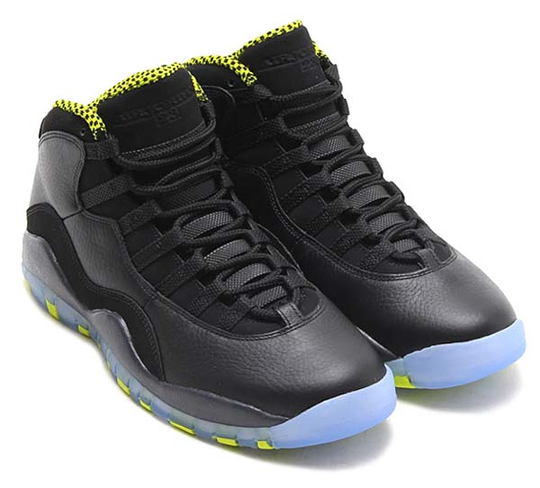 NIKE AIR JORDAN 10 RETRO [BLACK/VEOM GREEN-COOL GREY-ANTHRACITE] 310805-033