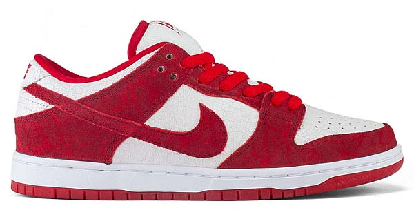 NIKE SB DUNK LOW PREMIUM VALENTINES DAY [UNIVERSITY RED/UNIVERSITY RED-WHITE] 313170-662