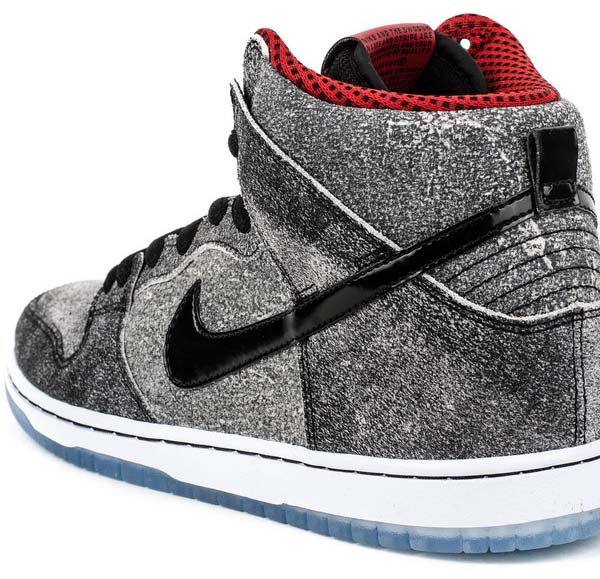 NIKE DUNK HIGH PREMIUM SB Salt Stain [BLACK / BLACK-GYM RED] 313171-024