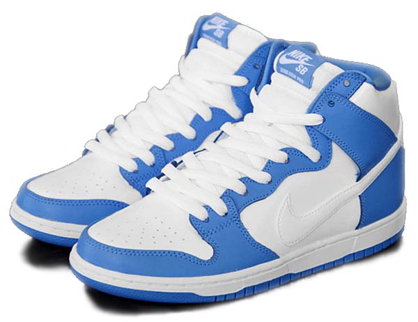 NIKE DUNK HIGH PREMIUM SB [UNIVERSITY BLUE/WHITE-BLCARO/BLANC] 313171-411