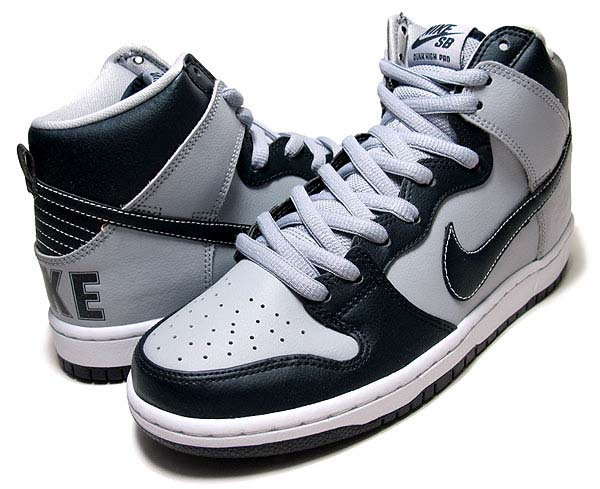 NIKE DUNK HIGH PREMIUM SB QS [DARK OBSIDIAN/WOLF GREY] 313171-440
