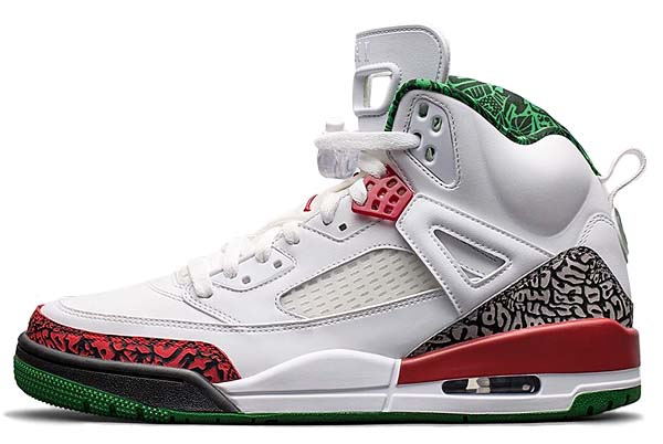 NIKE JORDAN SPIZIKE OG [WHITE / CEMENT GREY-CLASSIC GREEN-VARSITY RED] 315371-125
