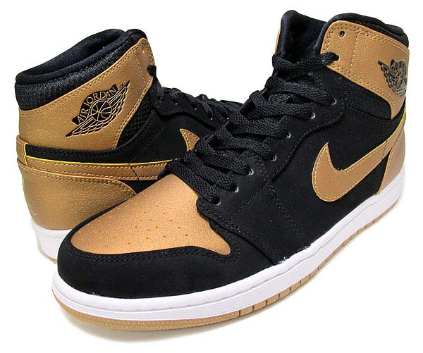 NIKE AIR JORDAN 1 RETRO HIGH CARMELO ANTHONY [BLACK/METALLIC GOLD-WHITE] 332550-026