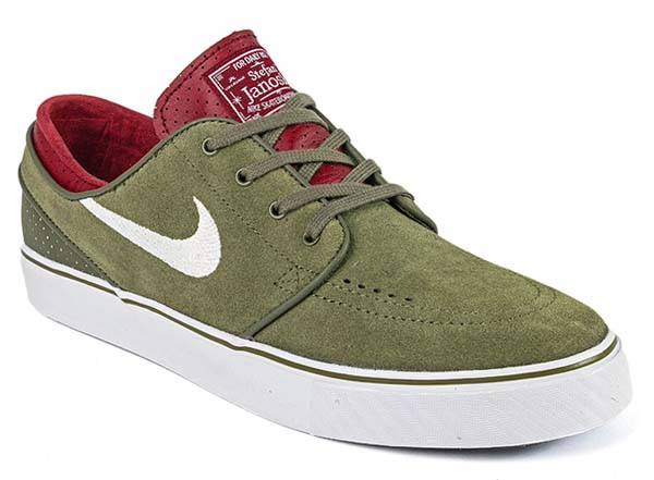 NIKE SB ZOOM STEFAN JANOSKI [MEDIUM OLIVE/ WHITE- TEAM RED- BLACK] 333824-216