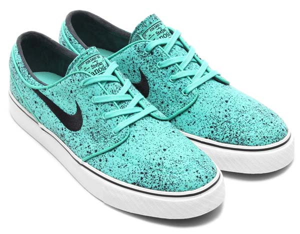 NIKE ZOOM STEFAN JANOSKI PREM [CRYSTAL MINT / BLACK-GUM LIGHT BROWN] 375361-302