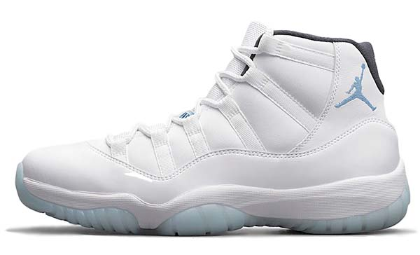 NIKE AIR JORDAN 11 RETRO [WHITE / BLACK / LEGEND BLUE] 378037-117