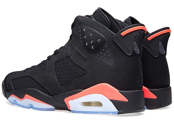 NIKE AIR JORDAN 6 RETRO [BLACK / INFRARED23 / BLACK] 384664-023