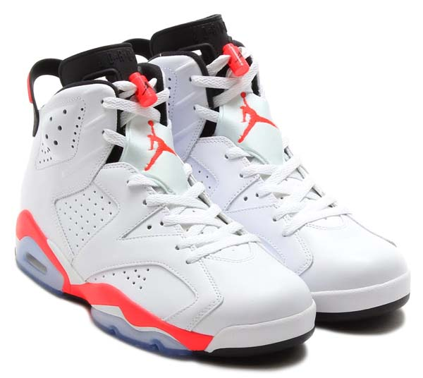 NIKE AIR JORDAN 6 RETRO [WHITE/INFRARED-BLACK] 384664-123