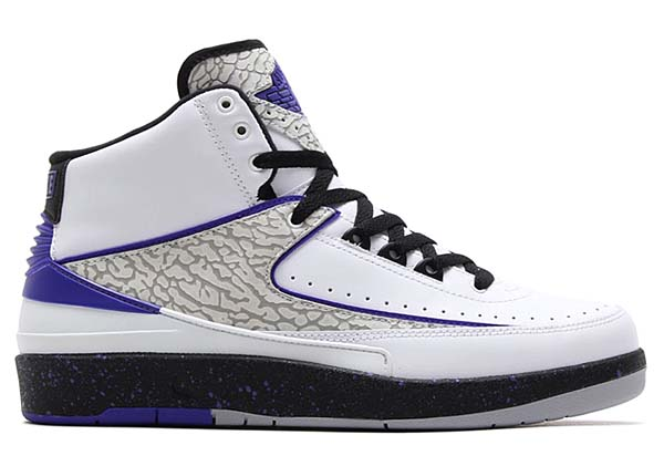 NIKE AIR JORDAN 2 RETRO [WHITE/DARK CONCORD-BLACK-WOLF GREY] 385475-153