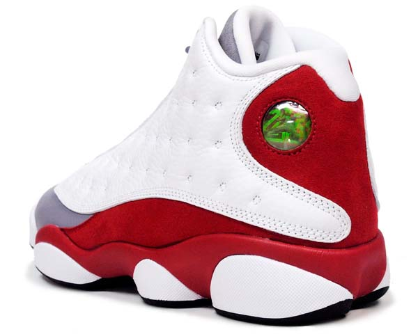 NIKE AIR JORDAN 13 RETRO GREY TOE [WHITE / BLACK-TRUE RED-CEMENT GREY] 414571-126