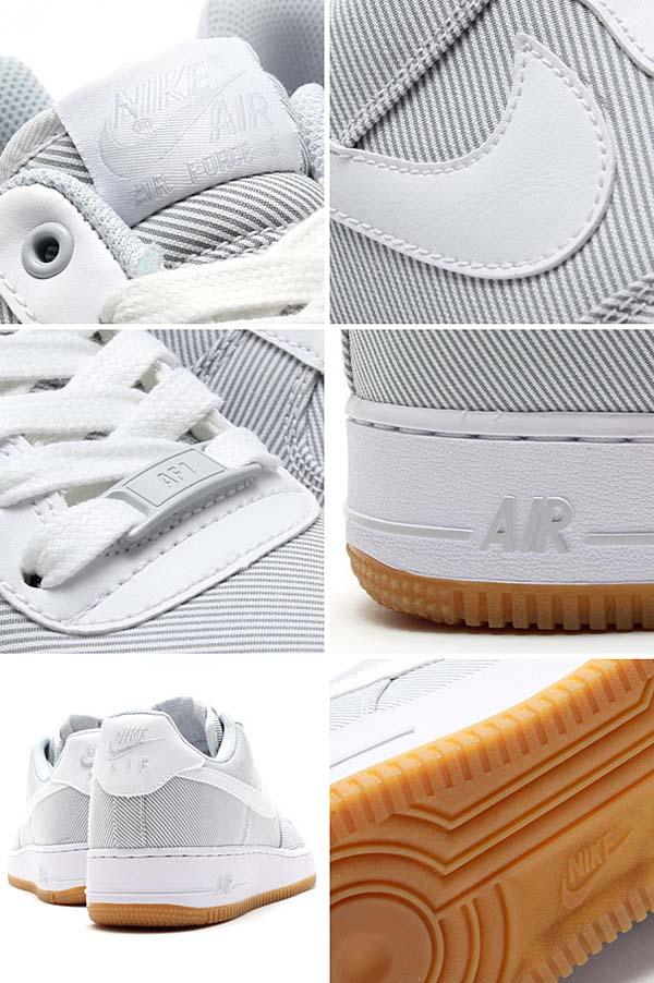 NIKE AIR FORCE 1 07 [PURE PLATINUM/WHT-FM LGHT BRWN] 488298-051