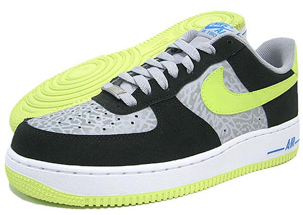 NIKE AIR FORCE 1 LOW ICONS [REFLECT SILVER/VOLT/BLACK] 488298-077