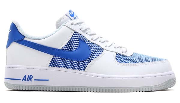 NIKE AIR FORCE 1 LOW [WHITE/HYPER COBALT-PURE PLATINUM] 488298-150