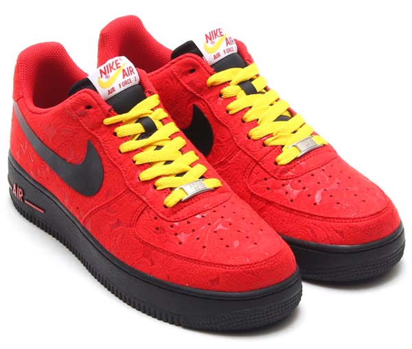 NIKE AIR FORCE 1 LOW [UNIVERSITY RED/BLACK-UNIVERSITY RED/TOUR YELLOW] 488298-617