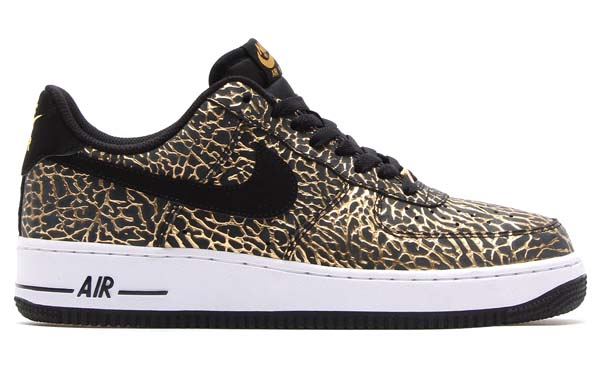 NIKE AIR FORCE 1 LOW GOLD ELEPHANT [METALLIC GOLD/BLACK-WHITE] 488298-702
